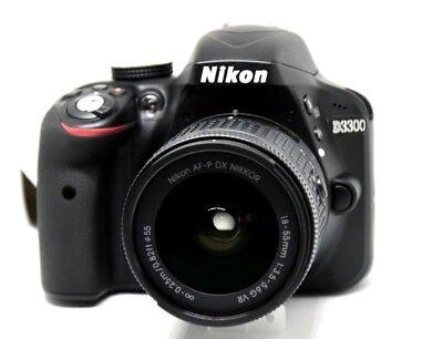 Nikon D3300 Digitale Spiegelreflex Kamera  AF-P DX 8-55 mm VR Kit schwarz