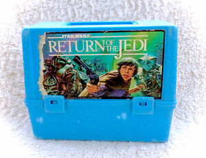 Vintage Star Wars Return Of Jedi Thermos Plastic Lunch Box 80s