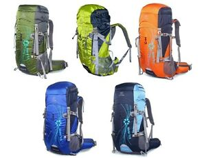 New  50L Cycling Backpack Camping Travel Hiking Pack wn
