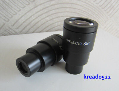 1pc WF25X 9mm Stereo Microscope Use High Eyepoint Wide Angle Eyepiece Lens 30mm