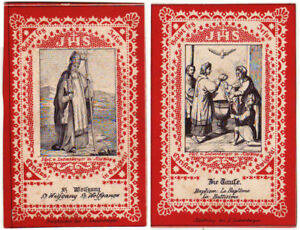 BIBLE PRAYER CARDS LATE 1880's CATHOLIC RELIGIOUS STICKERS LATIN