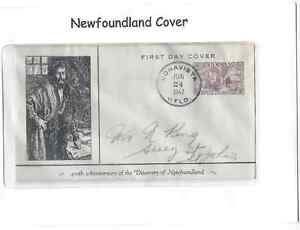 Newfoundland Postage Cover 45th Anniversary of Discovery of NL