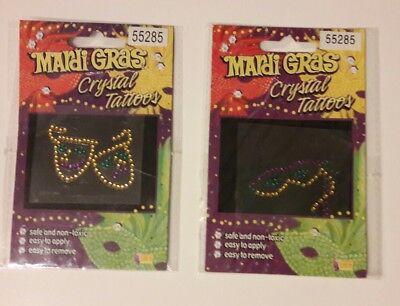Mardi Gras Crystal Tattoos Eye Drama Mask Comedy / Tragedy Temporary Sticker New](Mardi Gras Tattoos)