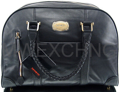 SAMSONITE BLACK LABEL RESORT SLIM BOWLING BAG LEATHER