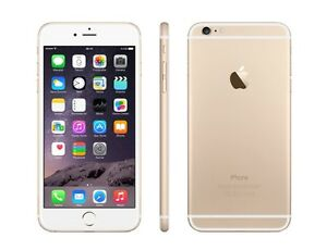 """GUC APPLE SMART TOUCH iPHONE 6 PLUS 5.5"""" GOLD & WHITE NO CONTRCT"""