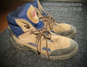 Men's steel toe work boots Size 13 for sale