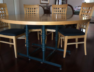 Kitchen Table and Chairs with Side Hutch