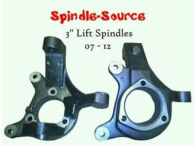 "2007 - 2016 Chevrolet Silverado GMC Sierra C1500 2WD 3"" Lift Spindles Knuckles"