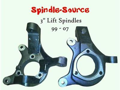 """1999 - 2006 Chevrolet Tahoe Cadillac Escalade 2WD 3"""" Lift Spindles Knuckles 3 in"""