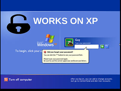 Unlock Computer Reset Admin  Account Password 4 Windows Xp Crack   Removes Login