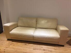Scandinavian cream sofa and 2 x armchairs