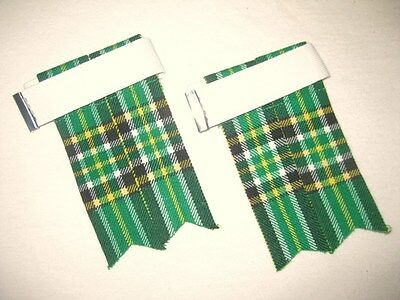 Irish Heritage Tartan Kilt Hose Flashes For Men - Free Shipping