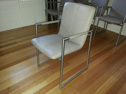 Dining Chairs Real Leather European Sorrento Joondalup Area Preview