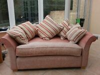 Collins & Hayes Dusty Pink 2 seater sofa