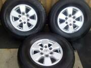 """3X N70 TOYOTA HILUX SR5 2010 GENUINE 15"""" ALLOY WHEELS RIMS 05 -15 Rothwell Redcliffe Area Preview"""