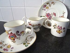 Wedgwood 'Swallow' demitasse cup/saucer set and milk/creamer (5 p Forrest South Canberra Preview