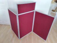 Folding display board