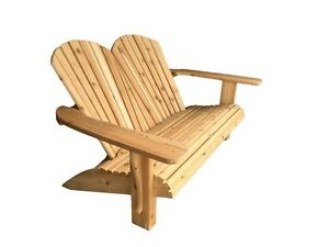 Hand Crafted 2 Person Cedar Adirondack Bench