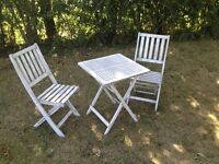 Wooden Dining Set - Table and 2 Chairs