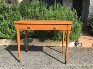 Vintage solid timber Danish-inspired desk Marrickville Marrickville Area Preview