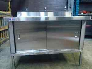 Stainless Steel 30 x 48 Table With Cabinets- Brand New!