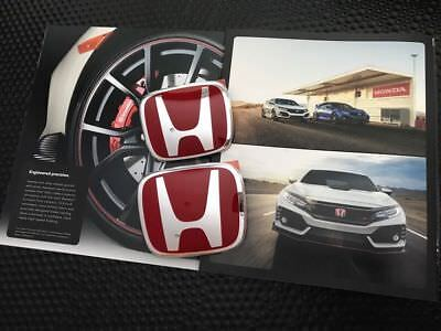 GENUINE OEM HONDA CIVIC TYPE R FRONT REAR RED EMBLEM FOR 2 DOOR COUPE (Honda Civic 2 Door Coupe)