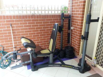 Bench press gym set Riverwood Canterbury Area Preview