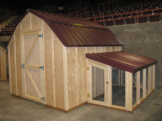 En Coop Plans With Material List The Poultry Barn Storage Shed