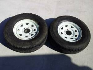 """16"""" 4X4 TRAILER WHEELS AND A/T TYRES IN 255/70R16 6 STUD SUNRAYSIA RIM"""