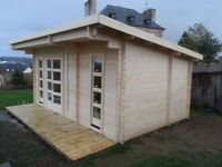 5,5 x 3,5 m (44 mm) Premium Log cabin