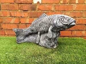 Large koi carp water feature garden ornament latex for Garden pond moulds