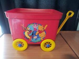 Winnie the Pooh Pull along Toy Cart Elizabeth Vale Playford Area Preview