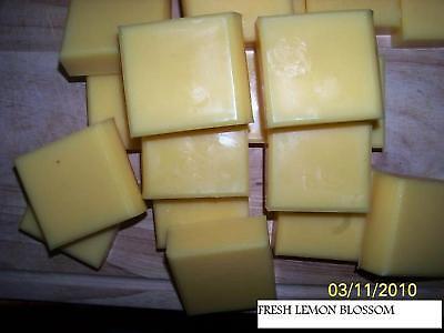 HOME-MADE OLIVE OIL/SHEA BUTTER SOAP..LEMON BLOSSOM .. 4 oz BARS OR YOU PICK - Homemade Lemon Bars