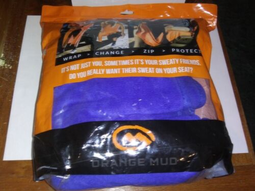 Orange Mud Transition & Seat Wrap seat towel, Beach Blue Colored, Open Package