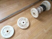 Weights with two lifting bars