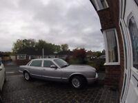 X Reg (Sept 2000) Jaguar XJ8 Executive, Long Wheel Base, Platinum with Catkin interior