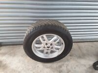 wheel and Tyre will fit range rover 255x60xR18