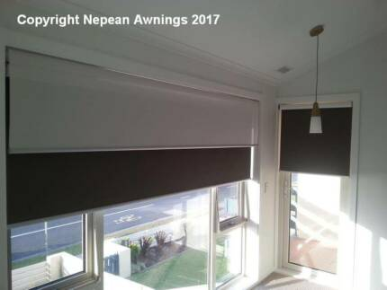 COATED BLOCKOUT & MESH ROLLER BLINDS by NEPEAN AWNINGS