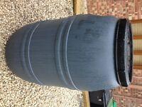 Grey 220 / 200 Litre Plastic HDPE Barrels, excellent Water Butt Waterbutt Brewing Home Brew Drum