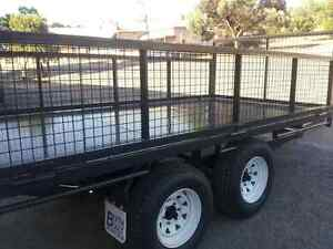 Blyth Built Chemical flat bed trailer with head board and sides Blyth Wakefield Area Preview