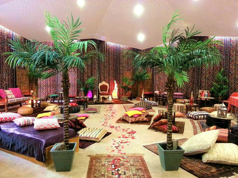 Moroccan arabian themed party chill out package prop hire for Home decor zone glasgow
