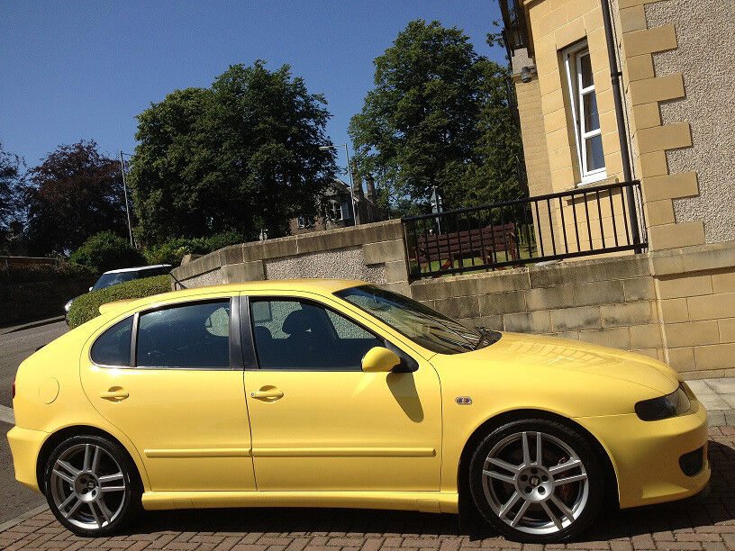 immaculate 2005 seat leon cupra r 225 onvi yellow 2. Black Bedroom Furniture Sets. Home Design Ideas