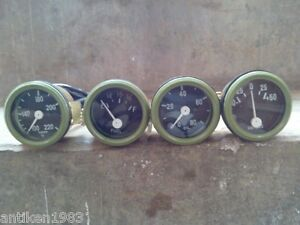 Willys-MB-Jeep-Ford-GPW-Gauges-Kit-Temperature-Oil-Pressure-Fuel-Ampere