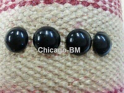 """100 pcs GLOSS BLACK Nails Upholstery Tacks Decorative Nail 1/2"""" Shank"""