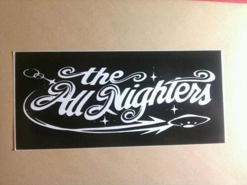 The ALL NIGHTERS B & W Music 2.75x6 Sticker