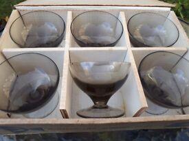 6 sundae glasses