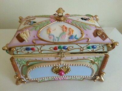 Disney Tinker Bell Tinkerbell Peter Pan Mermaids Hook Musical Jewelry Box NIB