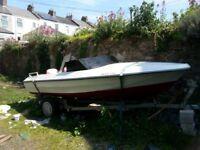 Speed boat Fletcher 17 f.