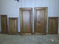 Brand new alder solid wood raised panel kitchen cabinet doors