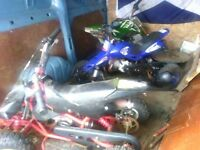 two quads and a small pitbike for spares
